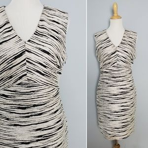 Vince Camuto Art Inspired B&W Striped Dress